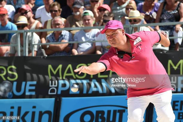 Kevin Malbec competes during the Masters of Petanque 2017 on July 13 2017 in RomanssurIsere France