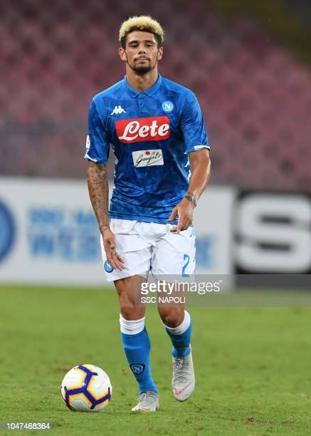 Kevin Malcuit during the Serie A match between SSC Napoli and US Sassuolo at Stadio San Paolo on October 7 2018 in Naples Italy