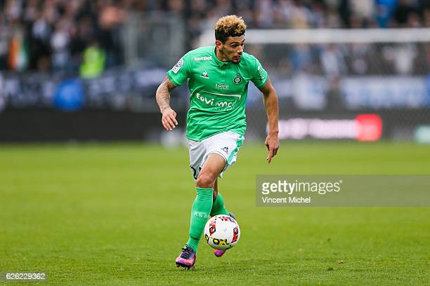 Kevin Malcuit of SaintEtienne during the French Ligue 1 match between Angers and Saint Etienne on November 27 2016 in Angers France