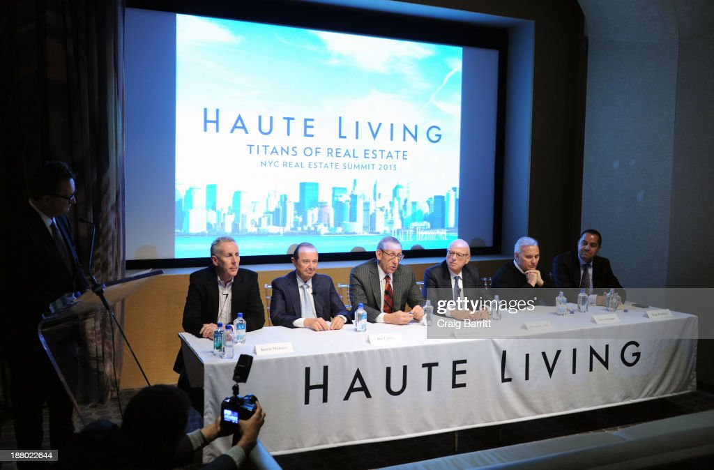 Kevin Maloney, Joe Cayre, Stephen Ross, Howard Lorber, Ian Schrager and Don Peebles attend the Haute Living New York City Real Estate Summit on November 14, 2013 in New York City.