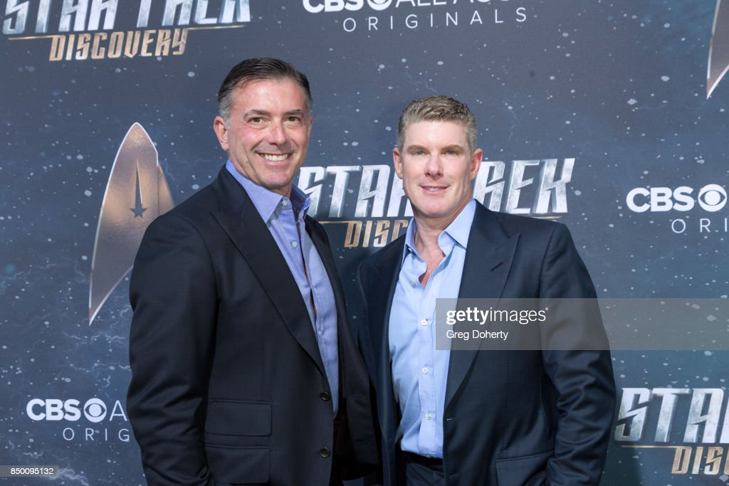 Kevin Manard and David Lewinda arrive for the Premiere Of CBS's 'Star Trek: Discovery' at The Cinerama Dome on September 19, 2017 in Los Angeles, California.