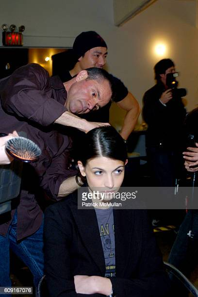 Kevin Mancuso and Model attend Adam Eve at Jane Street Studios on February 5 2007 in New York City