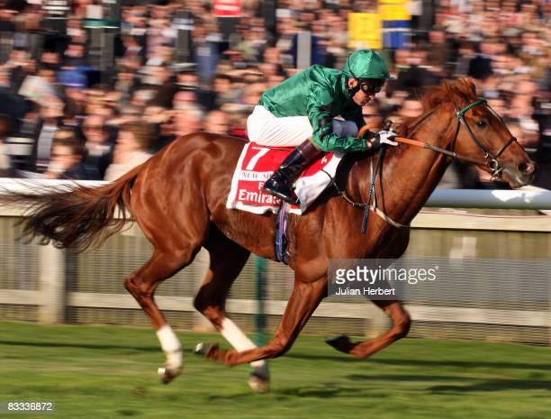 Kevin Manning and New Approach land The Emirates Airlines Champion Stakes Race run at Newmarket Racecourse on Octoer 18 in Newmarket England
