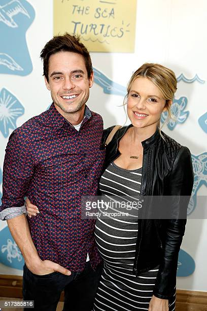 Kevin Manno and Ali Fedotowsky attend the partnership celebration between TOMS and Oceana to help save the sea turtles on March 24 2016 at Au Fudge...