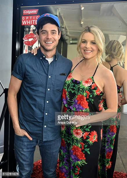 Kevin MannoAli Fedotowsky attend the Colgate Optic White Beauty Bar Ð Day 2 at Hudson Loft on February 14 2016 in Los Angeles California