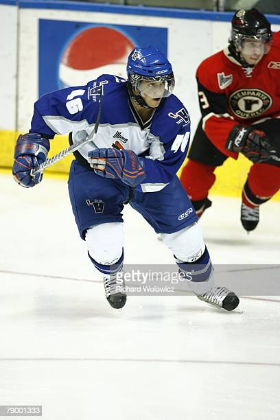 Kevin Marshall of the Lewiston Maineiacs skates during the game against the Quebec City Remparts at Colisee Pepsi on January 11, 2008 in Quebec City,...
