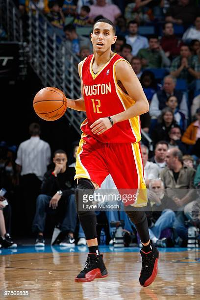 Kevin Martin of the Houston Rockets brings the ball upcourt against the New Orleans Hornets during the game on February 21 2010 at the New Orleans...