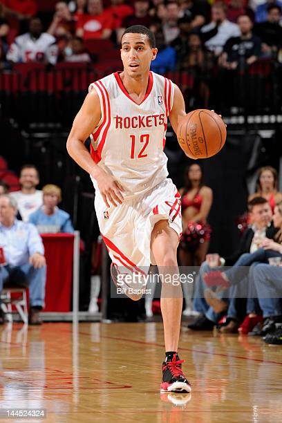 Kevin Martin of the Houston Rockets controls the ball during the game against the Denver Nuggets on March 2 2012 at the Toyota Center in Houston...