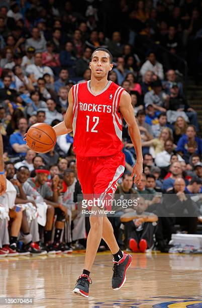 Kevin Martin of the Houston Rockets controls the ball in a game against the Golden State Warriors on February 12 2012 at Oracle Arena in Oakland...
