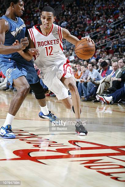 Kevin Martin of the Houston Rockets drive during the game against the Washington Wizards on December 27 2010 at the Toyota Center in Houston Texas...
