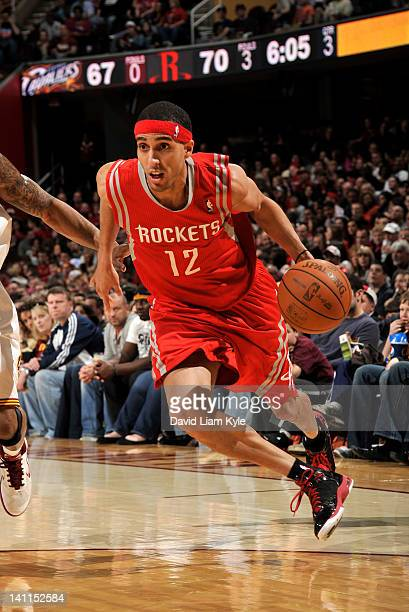 Kevin Martin of the Houston Rockets drives to the basket against Cleveland Cavaliers at The Quicken Loans Arena on March 11 2012 in Cleveland Ohio...