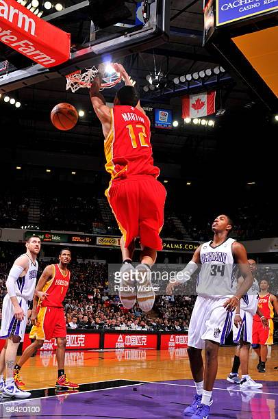 Kevin Martin of the Houston Rockets dunks the ball against the Sacramento Kings on April 12 2010 at ARCO Arena in Sacramento California NOTE TO USER...
