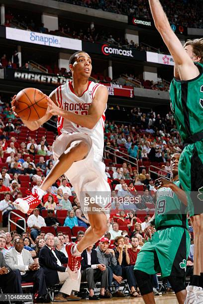 Kevin Martin of the Houston Rockets handles the ball against the Boston Celtics on March 18 2011 at the Toyota Center in Houston Texas NOTE TO USER...