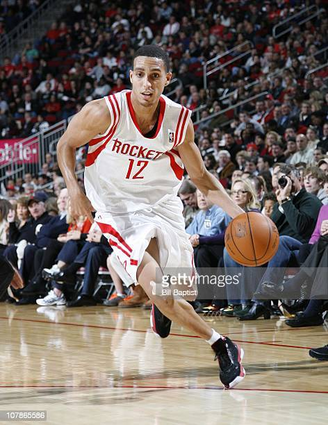 Kevin Martin of the Houston Rockets handles the ball during a game against the Miami Heat on December 29 2010 at the Toyota Center in Houston Texas...