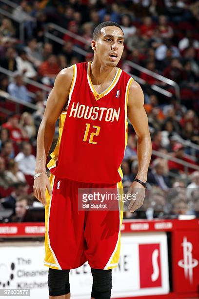 Kevin Martin of the Houston Rockets looks on during the game against the Orlando Magic at Toyota Center on February 24 2010 in Houston Texas The...