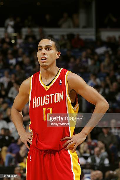 Kevin Martin of the Houston Rockets looks on during the game against the Sacramento Kings at Arco Arena on April 12 2010 in Sacramento California The...