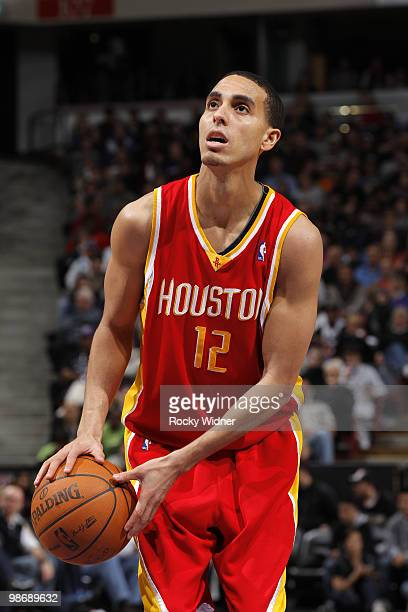 Kevin Martin of the Houston Rockets looks to shoot a free throw during the game against the Sacramento Kings at Arco Arena on April 12 2010 in...