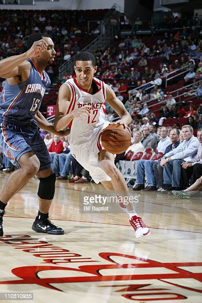 Kevin Martin of the Houston Rockets moves the ball against the Charlotte Bobcats on March 16 2011 at the Toyota Center in Houston Texas NOTE TO USER...