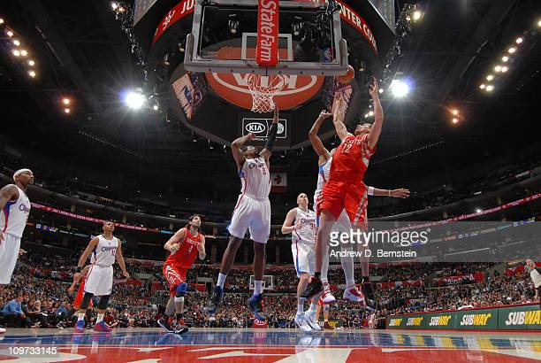 Kevin Martin of the Houston Rockets puts up a shot during a game against the Los Angeles Clippers at Staples Center on March 2 2011 in Los Angeles...
