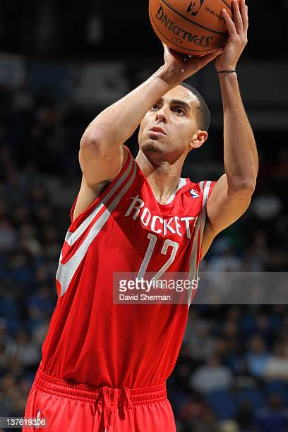 Kevin Martin of the Houston Rockets shoots a free throw during the game between the Minnesota Timberwolves and the Houston Rockets on January 23 2012...