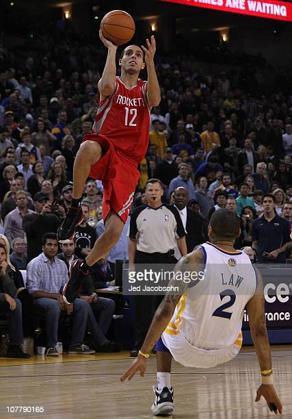 Kevin Martin of the Houston Rockets shoots against the Golden State Warriors during an NBA game at Oracle Arena on December 20 2010 in Oakland...