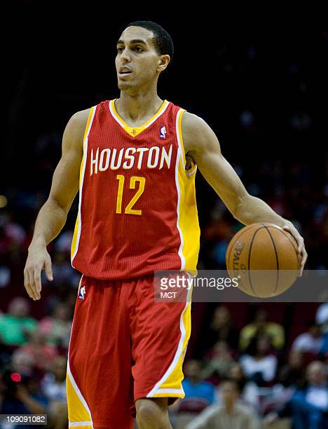 Kevin Martin of the Houston Rockets takes the ball down court against the Denver Nuggets in the first half of their game on Monday February 14 in...