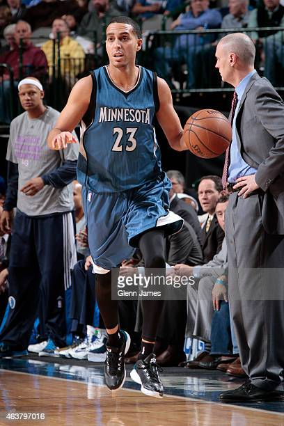Kevin Martin of the Minnesota Timberwolves drives against the Dallas Mavericks on February 2 2015 at the American Airlines Center in Dallas Texas...