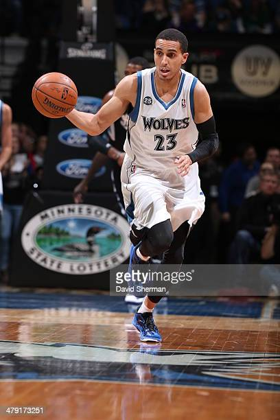 Kevin Martin of the Minnesota Timberwolves drives against the Sacramento Kings on March 16 2014 at Target Center in Minneapolis Minnesota NOTE TO...