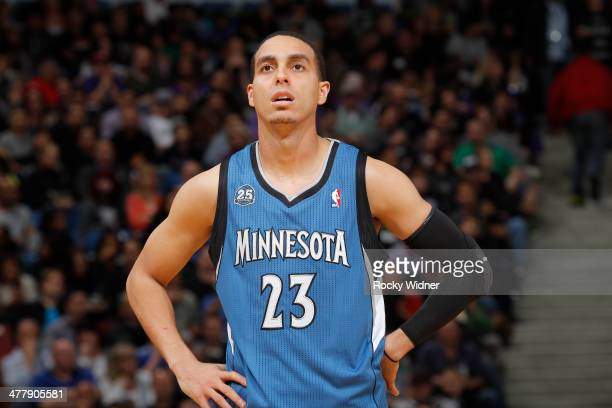 Kevin Martin of the Minnesota Timberwolves in a game against the Sacramento Kings on March 1 2014 at Sleep Train Arena in Sacramento California NOTE...