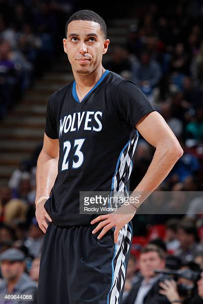 Kevin Martin of the Minnesota Timberwolves looks on during the game against the Sacramento Kings on April 7 2015 at Sleep Train Arena in Sacramento...