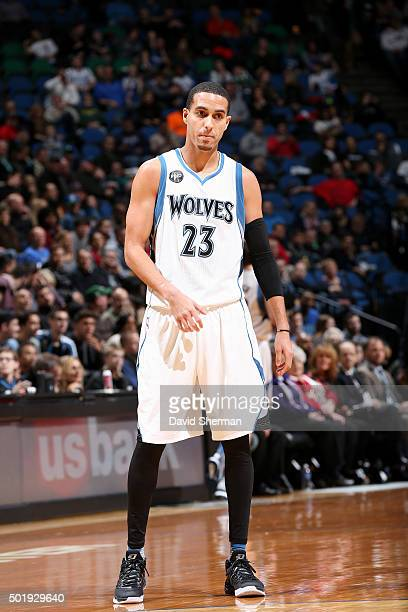 Kevin Martin of the Minnesota Timberwolves looks on during the game against the Sacramento Kings on December 18 2015 at Target Center in Minneapolis...