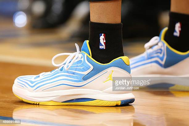 Kevin Martin of the Minnesota Timberwolves shoes against the Washington Wizards during the game on December 27 2013 at Target Center in Minneapolis...