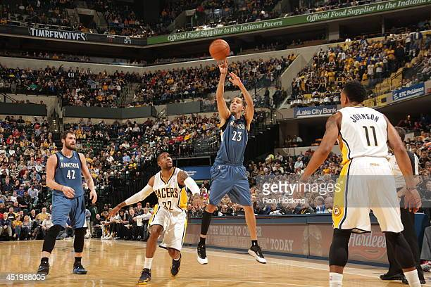 Kevin Martin of the Minnesota Timberwolves shoots against the Indiana Pacers at Bankers Life Fieldhouse on November 25 2013 in Indianapolis Indiana...