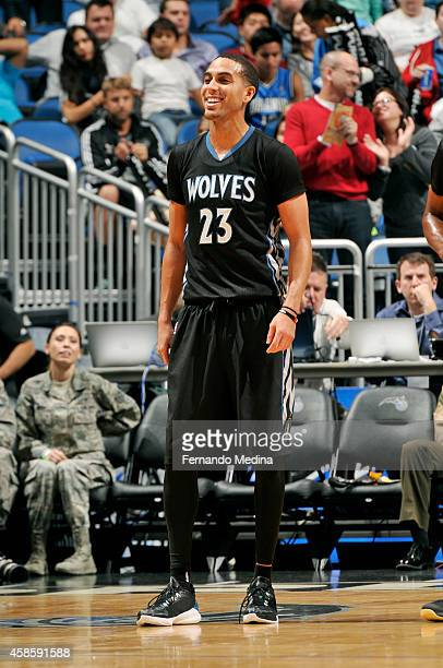 Kevin Martin of the Minnesota Timberwolves stands on the court during a game against the Orlando Magic on November 7 2014 at Amway Center in Orlando...