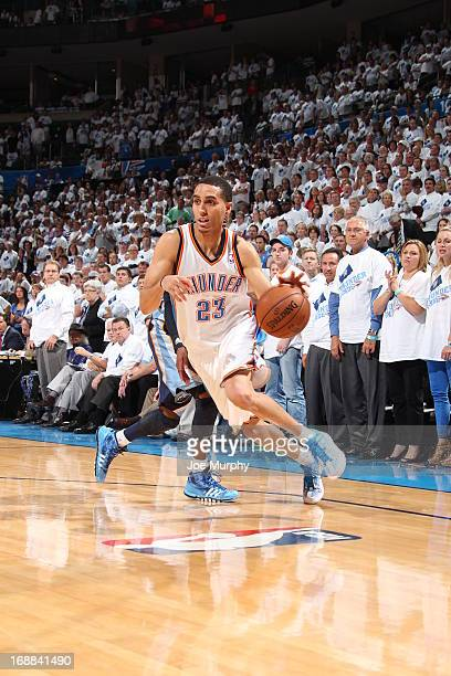 Kevin Martin of the Oklahoma City Thunder drives against the Memphis Grizzlies in Game Five of the Western Conference Semifinals during the 2013 NBA...