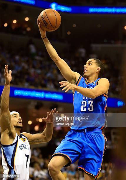 Kevin Martin of the Oklahoma City Thunder in action during Game Three of the Western Conference Semifinals of the 2013 NBA Playoffs against the...