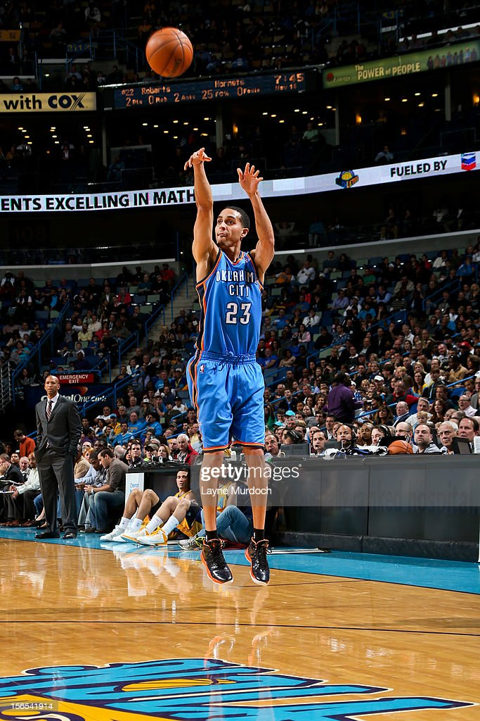 Oklahoma City Thunder v New Orleans Hornets : News Photo