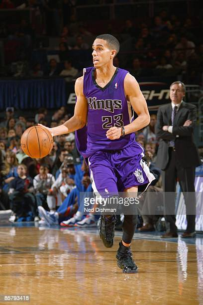 Kevin Martin of the Sacramento Kings dribbles the ball downcourt against the New York Knicks on March 202009 at Madison Square Garden in New York...
