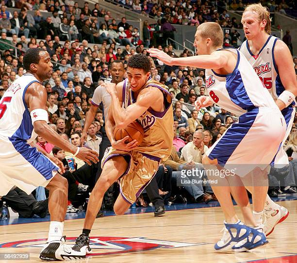 Kevin Martin of the Sacramento Kings drives to the basket against the Los Angeles Clippers on December 27 2005 at Staples Center in Los Angeles...