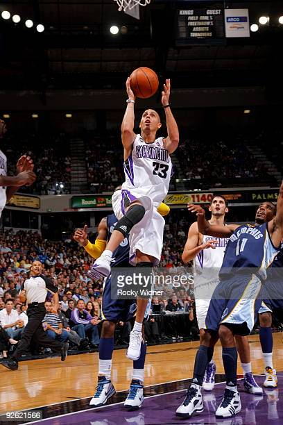 Kevin Martin of the Sacramento Kings gets to the basket against the Memphis Grizzlies during the game on November 2 2009 at ARCO Arena in Sacramento...