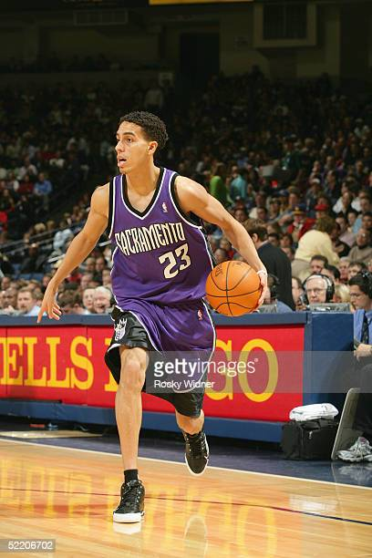 Kevin Martin of the Sacramento Kings moves the ball during the game against the Golden State Warriors at the Arena in Oakland California The Kings...