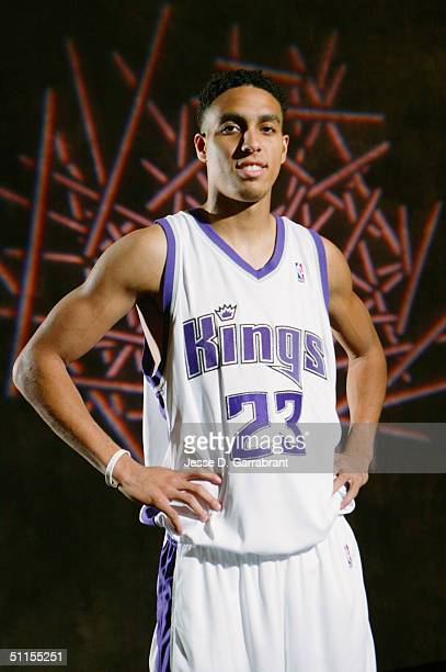 Kevin Martin of the Sacramento Kings poses for a portrait during the 2004 NBA Rookie Shoot at the Madison Square Garden Training Facility on August 2...