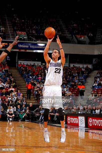 Kevin Martin of the Sacramento Kings shoots the open jump shot against the Charlotte Bobcats on January 30 2010 at ARCO Arena in Sacramento...