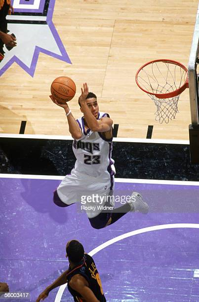 Kevin Martin of the Sacramento Kings takes the ball to the basket during a preseason game against the Golden State Warriors at Arco Arena on October...