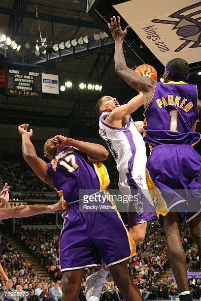 Kevin Martin of the Sacramento Kings takes the ball to the basket against the Los Angeles Lakers on January 4 2007 at ARCO Arena in Sacramento...