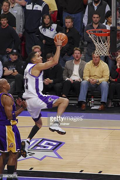 Kevin Martin of the Sacramento Kings takes the ball to the basket against the Los Angeles Lakers January 4 2007 at ARCO Arena in Sacramento...