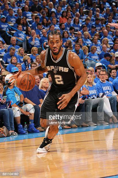 Kevin Martin of the San Antonio Spurs handles the ball against the Oklahoma City Thunder in Game Six of Western Conference Quarterfinals of the 2016...