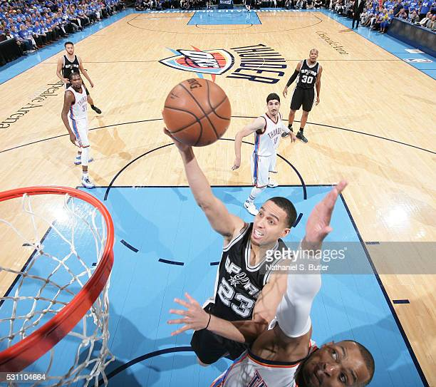 Kevin Martin of the San Antonio Spurs shoots the ball against the Oklahoma City Thunder in Game Six of the Western Conference Semifinals during the...