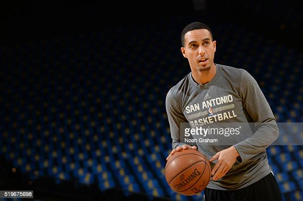 Kevin Martin of the San Antonio Spurs warms up before facing the Golden State Warriors on April 7 2016 at Oracle Arena in Oakland California NOTE TO...