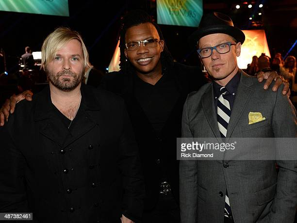 Kevin Max Michael Tait and TobyMac of dc Talk attend the GMA Honors Celebration and Hall of Fame Induction at the Allen Arena at Lipscomb University...
